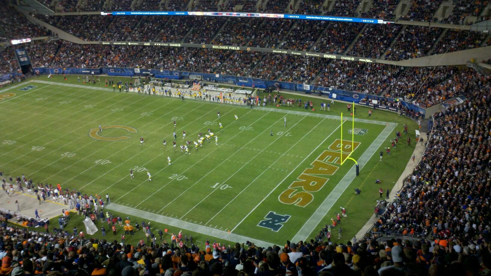 Soldier Field Section 430 Row 34 Seat 12