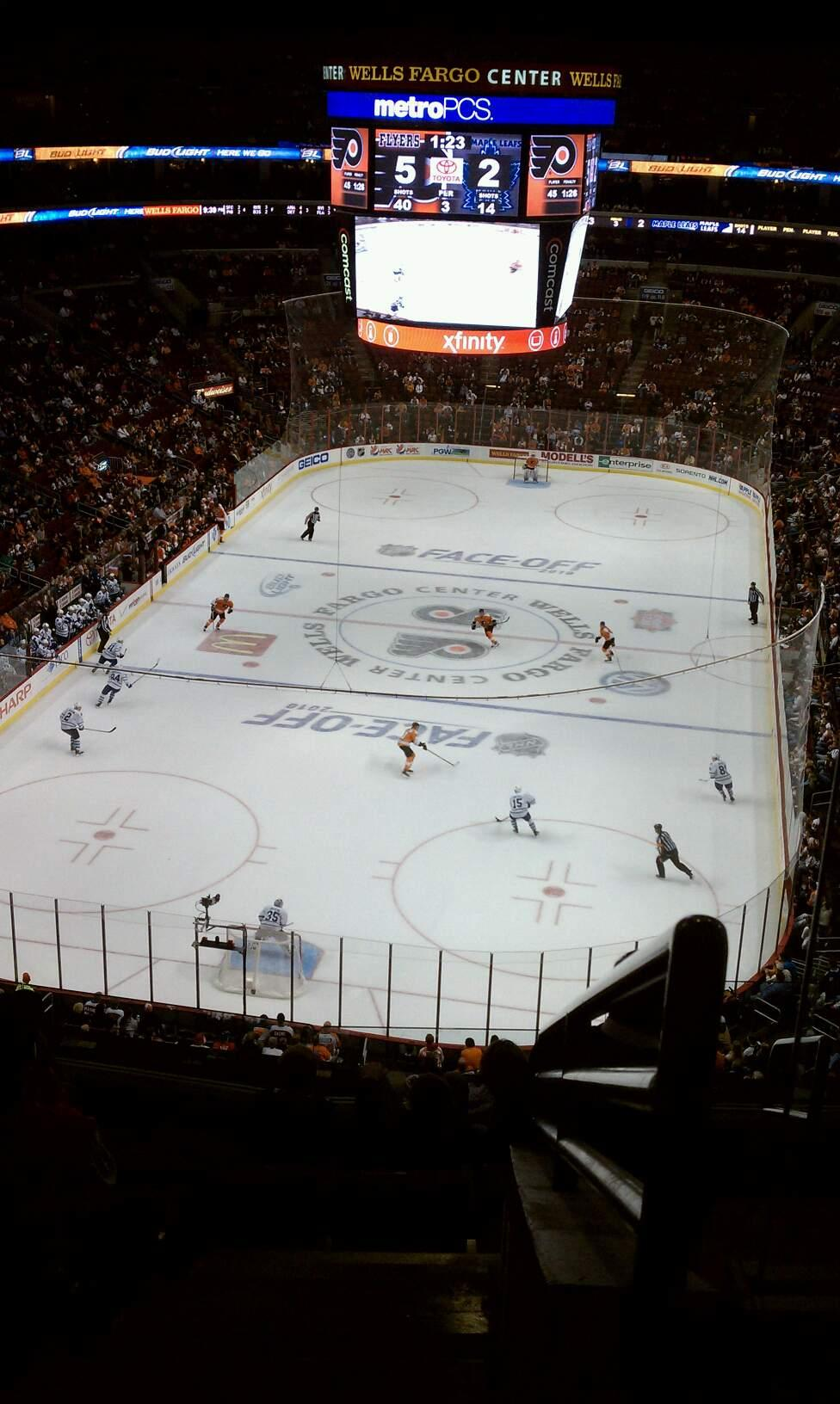 Wells Fargo Center Section 207a Row 8 Seat 19
