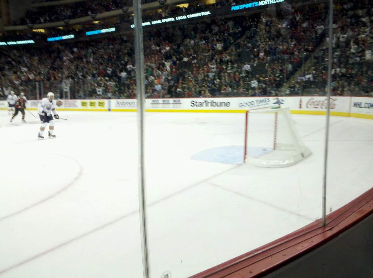 Xcel Energy Center Section 112 Row 2 Seat 1