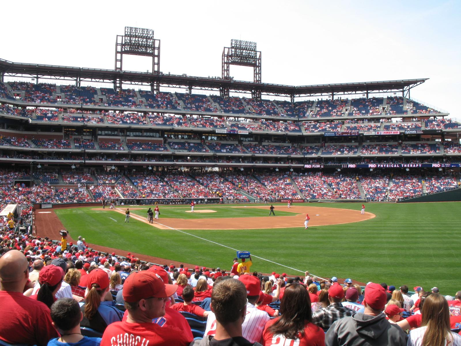 Citizens Bank Park Section 109 Row 28 Seat 3