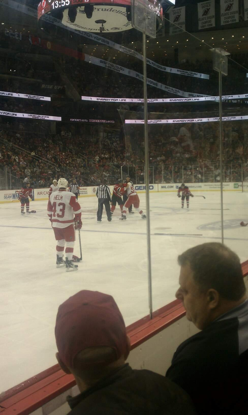 Prudential Center Section 6  Row 2  Seat 5