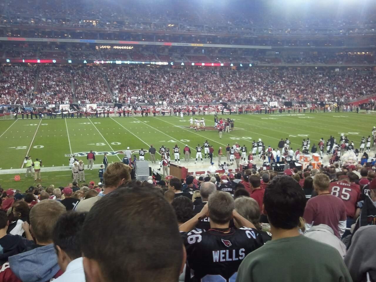 University of Phoenix Stadium Section 111 Row 13 Seat 07