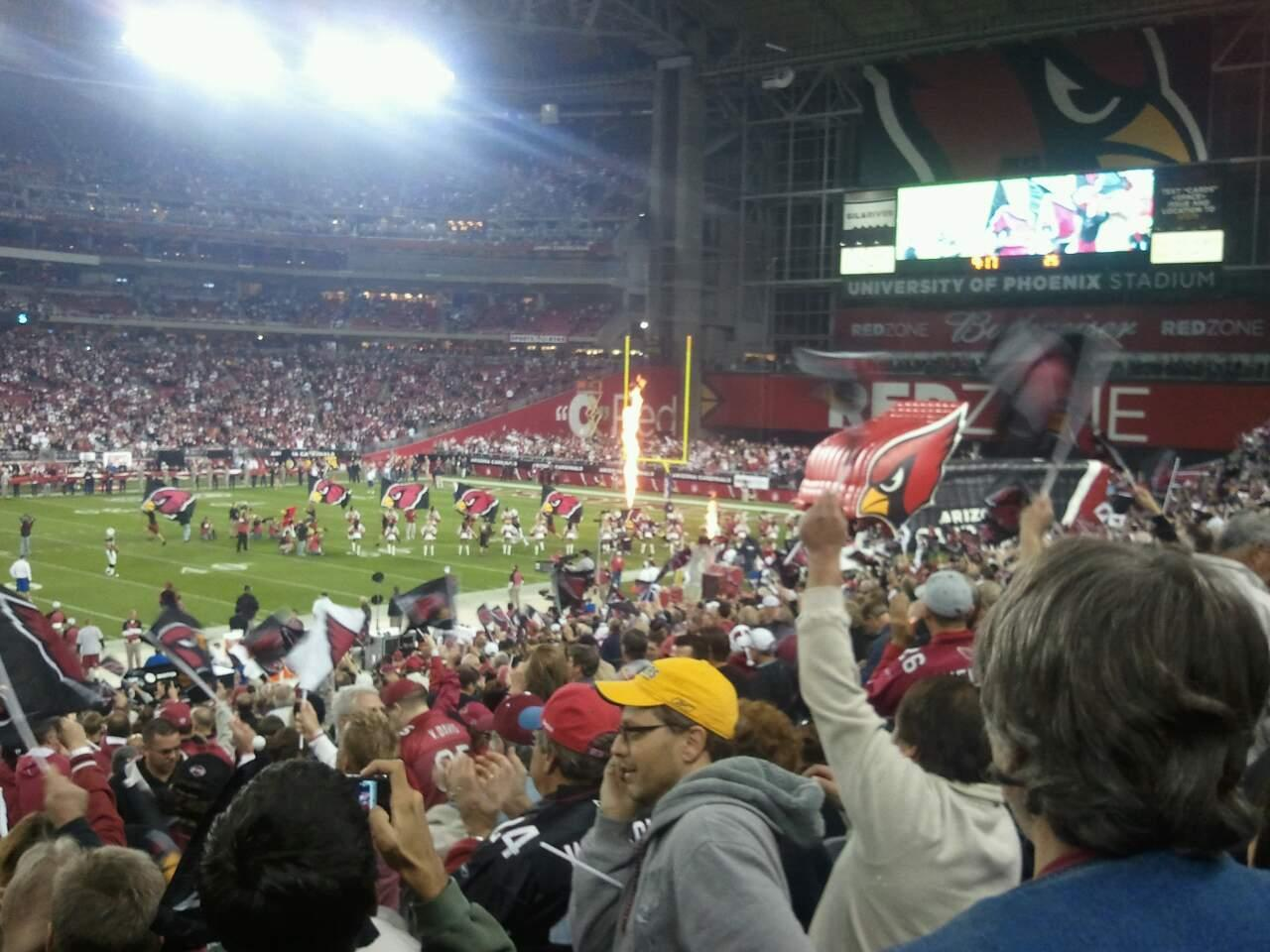 University of Phoenix Stadium Section 111 Row 13 Seat 07