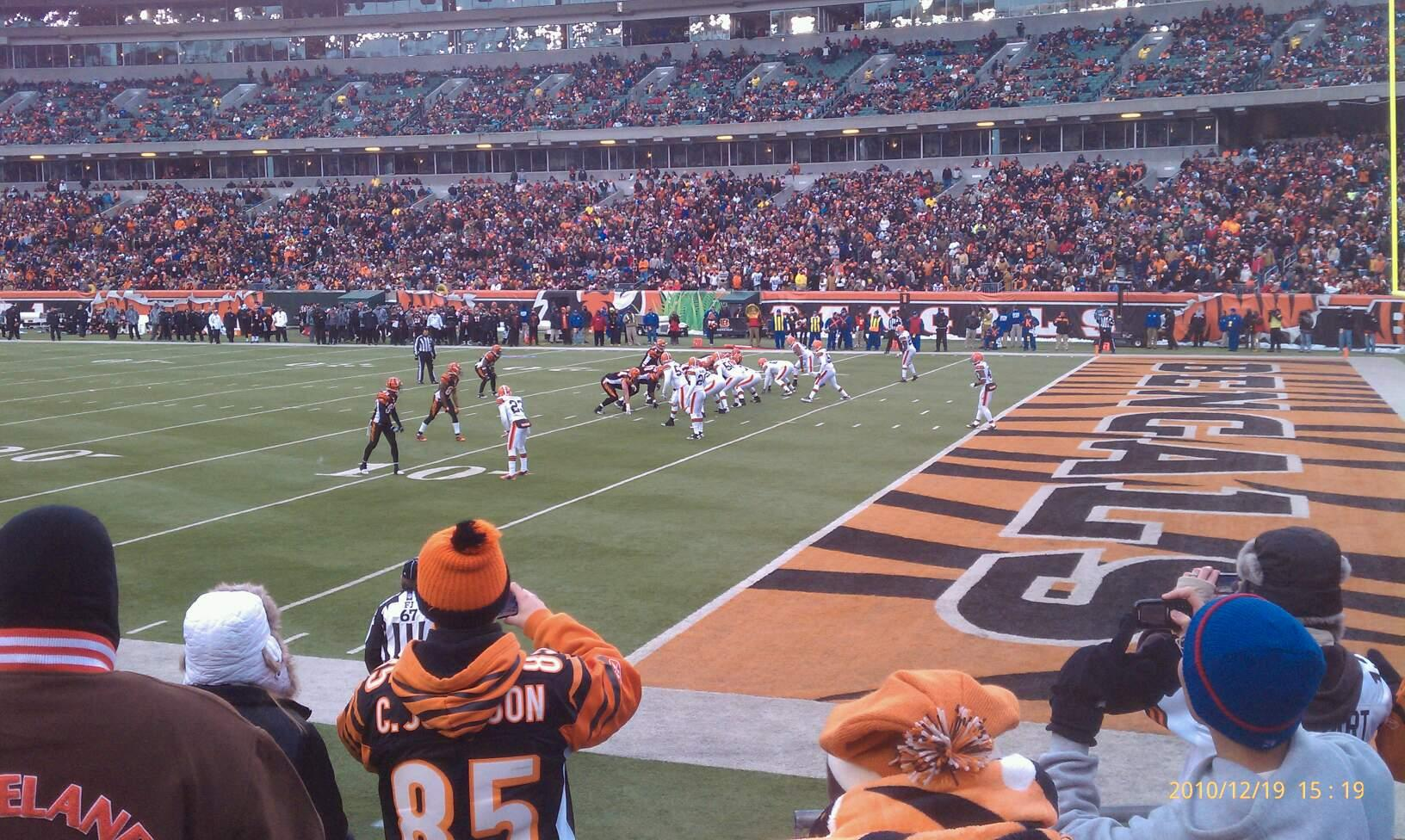 Paul Brown Stadium Section 134 Row 5 Seat 1
