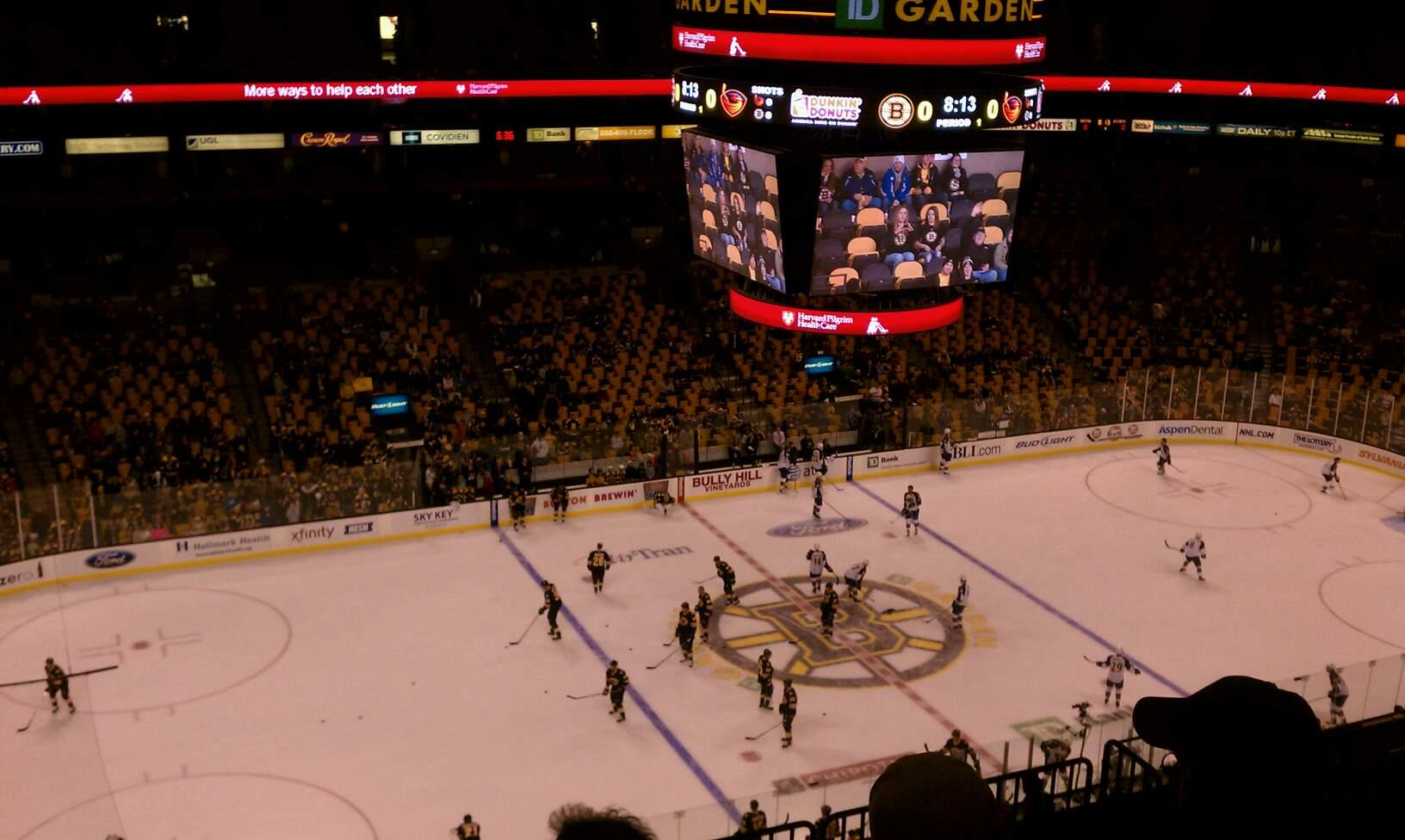 TD Garden Section Bal 318 Row 10 Seat 13
