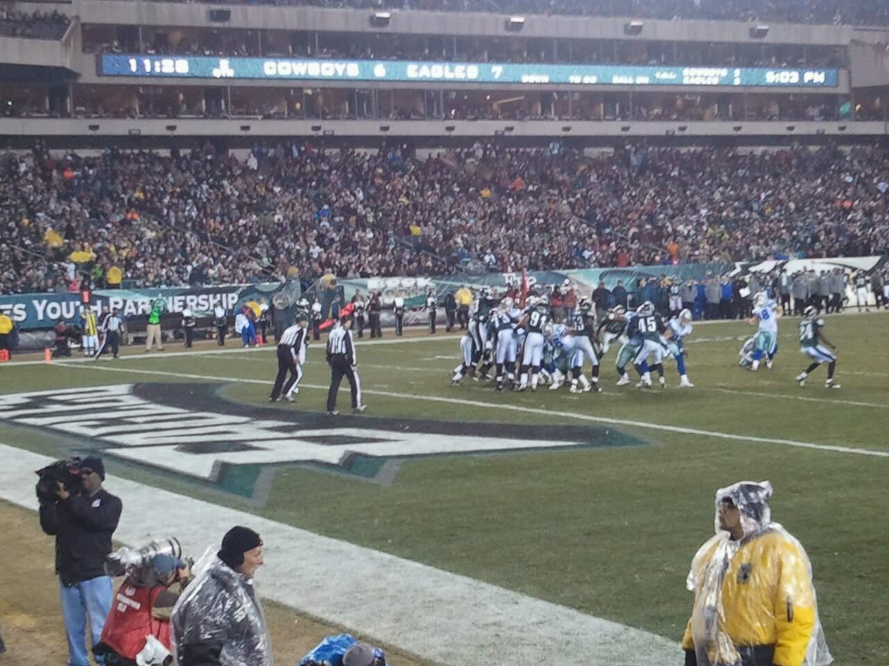 Lincoln Financial Field Section 114 Row 5 Seat 7
