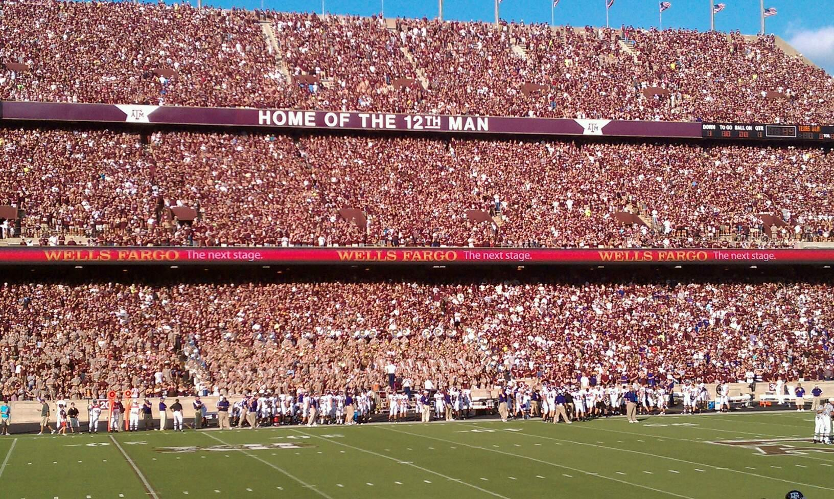 Kyle Field Section 120 Row 14