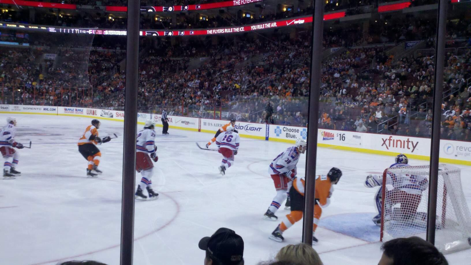 Wells Fargo Center Section 106  Row 4 Seat 5