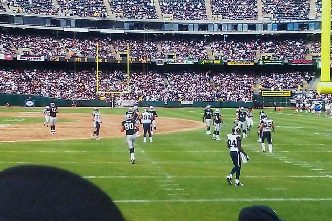 Oakland Alameda Coliseum Section 107 Row 5 Seat 10