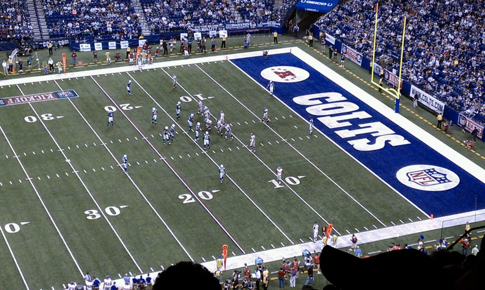 Lucas Oil Stadium Section 613 Row 17 Seat 21