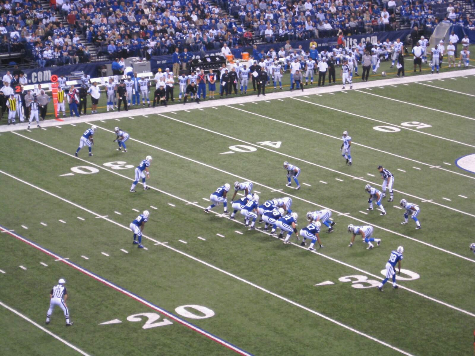 Lucas Oil Stadium Section 345 Row 5w Seat 2