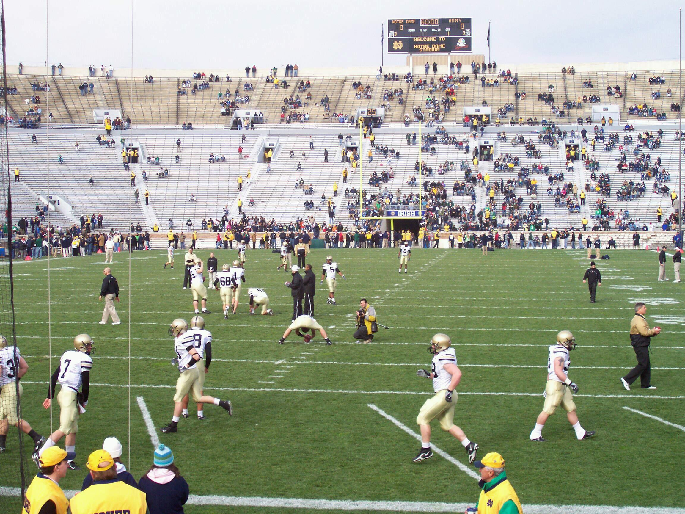 Notre Dame Stadium Section 18 Row 13 Seat 5