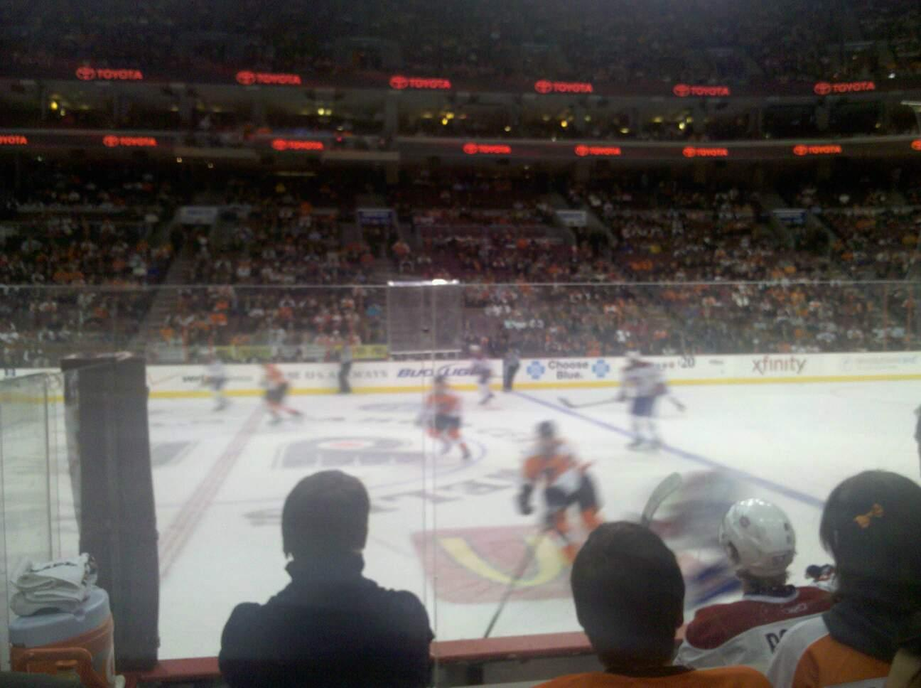 Wells Fargo Center Section 101 Row 5 Seat 11