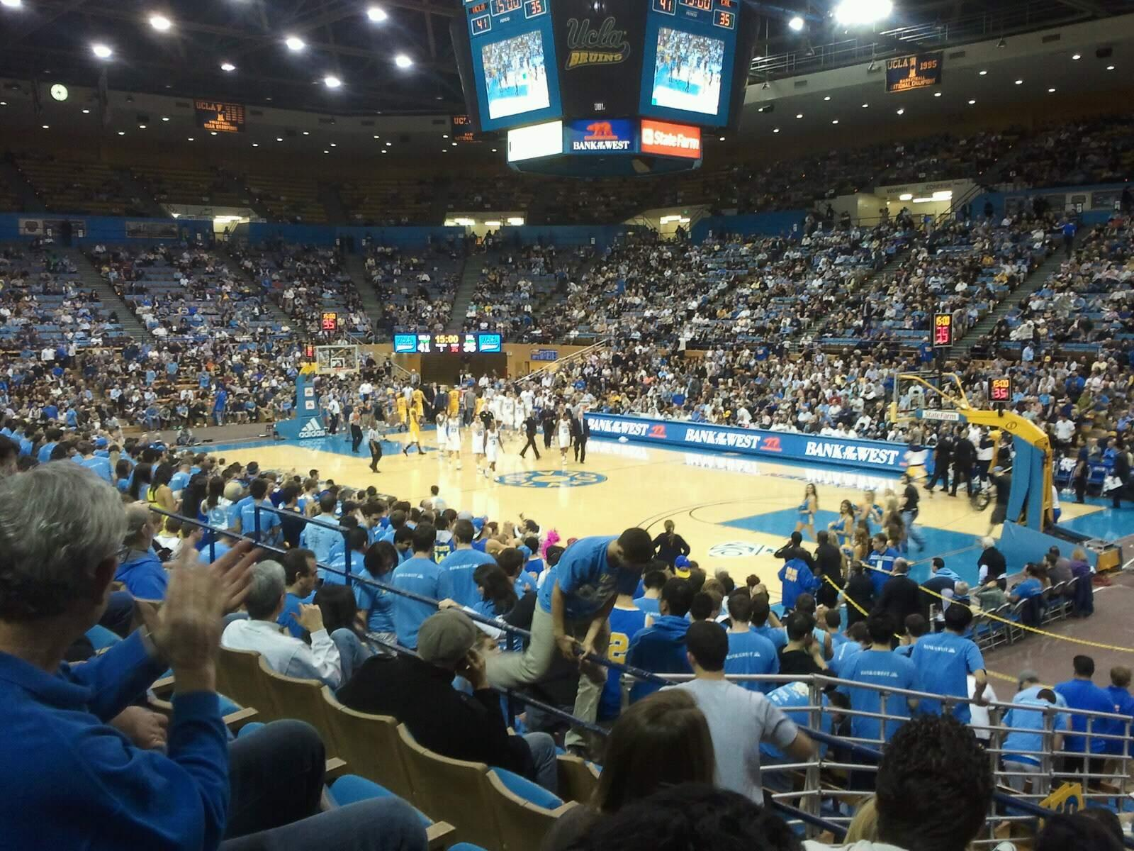 Pauley Pavilion Section 112 Row 4