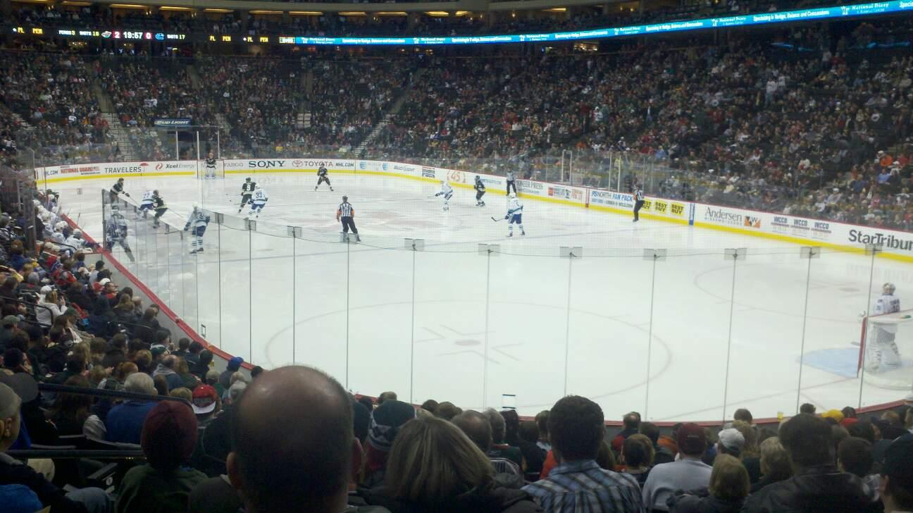 Xcel Energy Center Section 112 Row 15 Seat 11