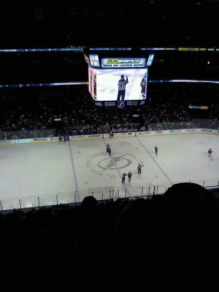 Amalie Arena Section 317 Row K Seat 10