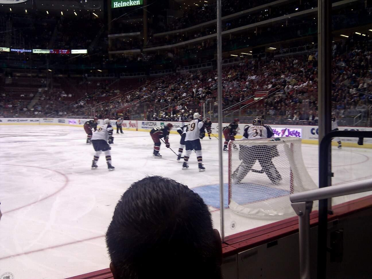 Gila River Arena Section 107 Row B Seat 2