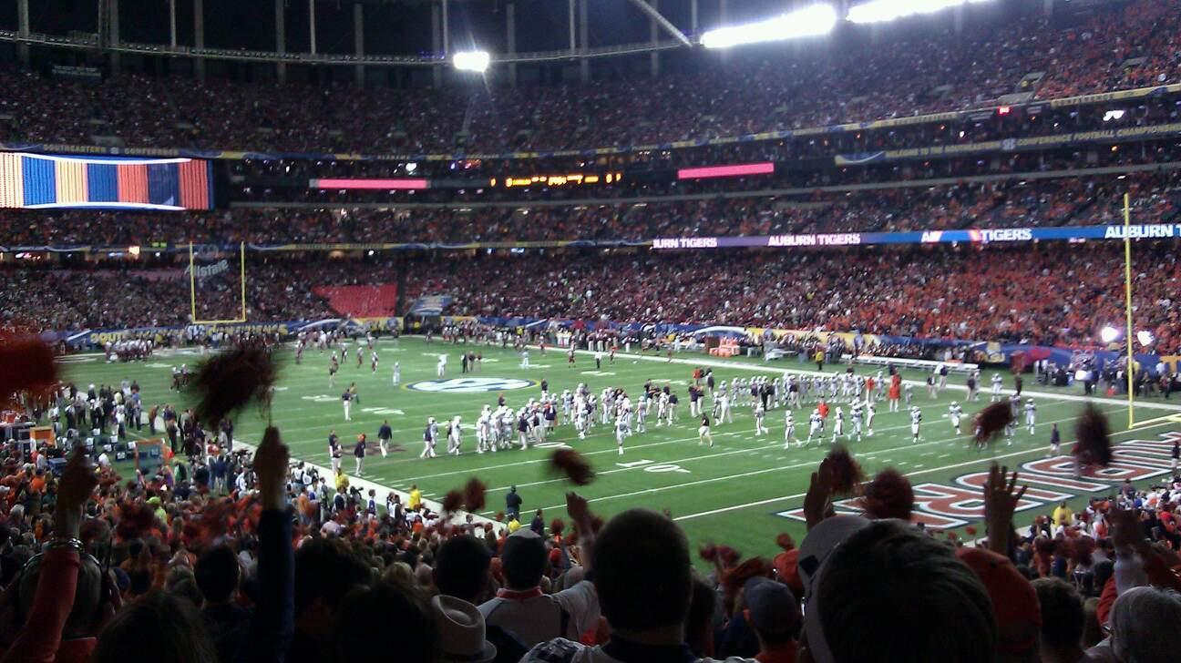 Georgia Dome Section 109 Row 34 Seat 12