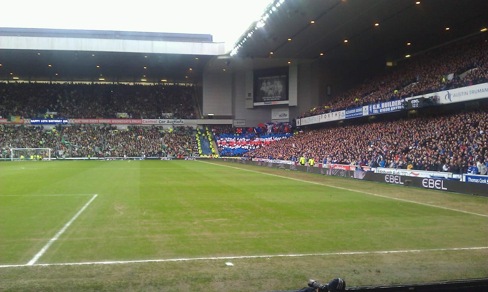 Ibrox Stadium Section cf1 Row e Seat 45