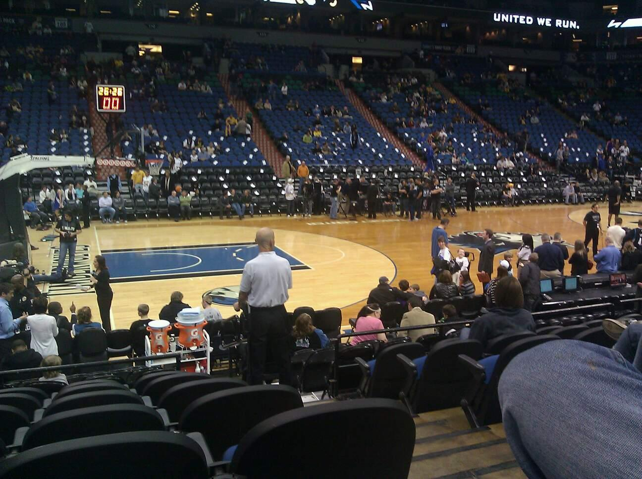 Target Center Section 133 Row g Seat 2