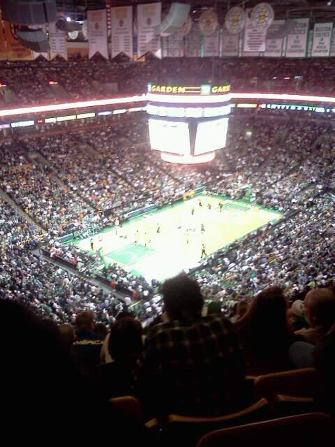 TD Garden Section Bal 320 Row 15 Seat 15
