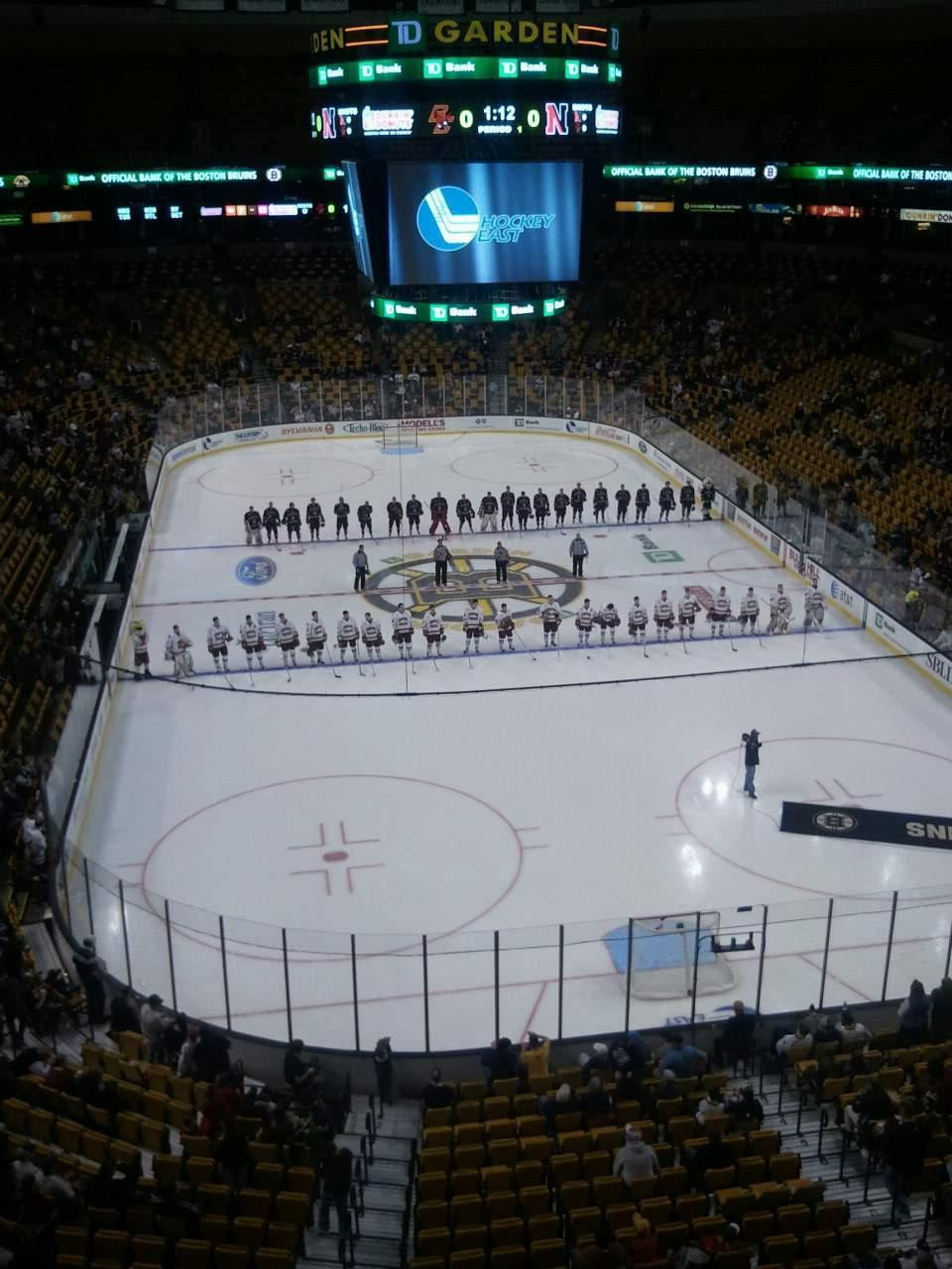 TD Garden Section Bal 324 Row 1 Seat 16