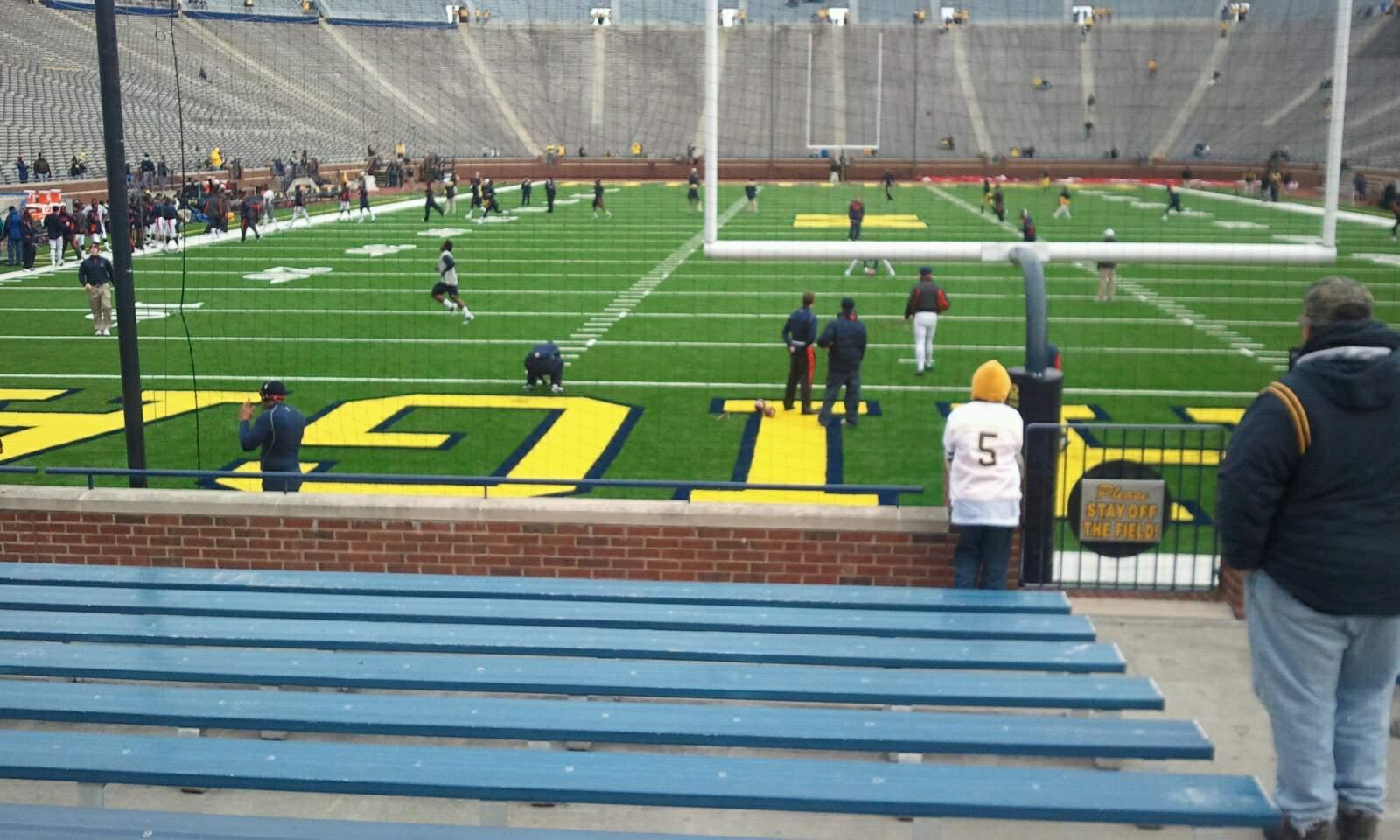 Michigan Stadium Section 12 Row 12 Seat 10