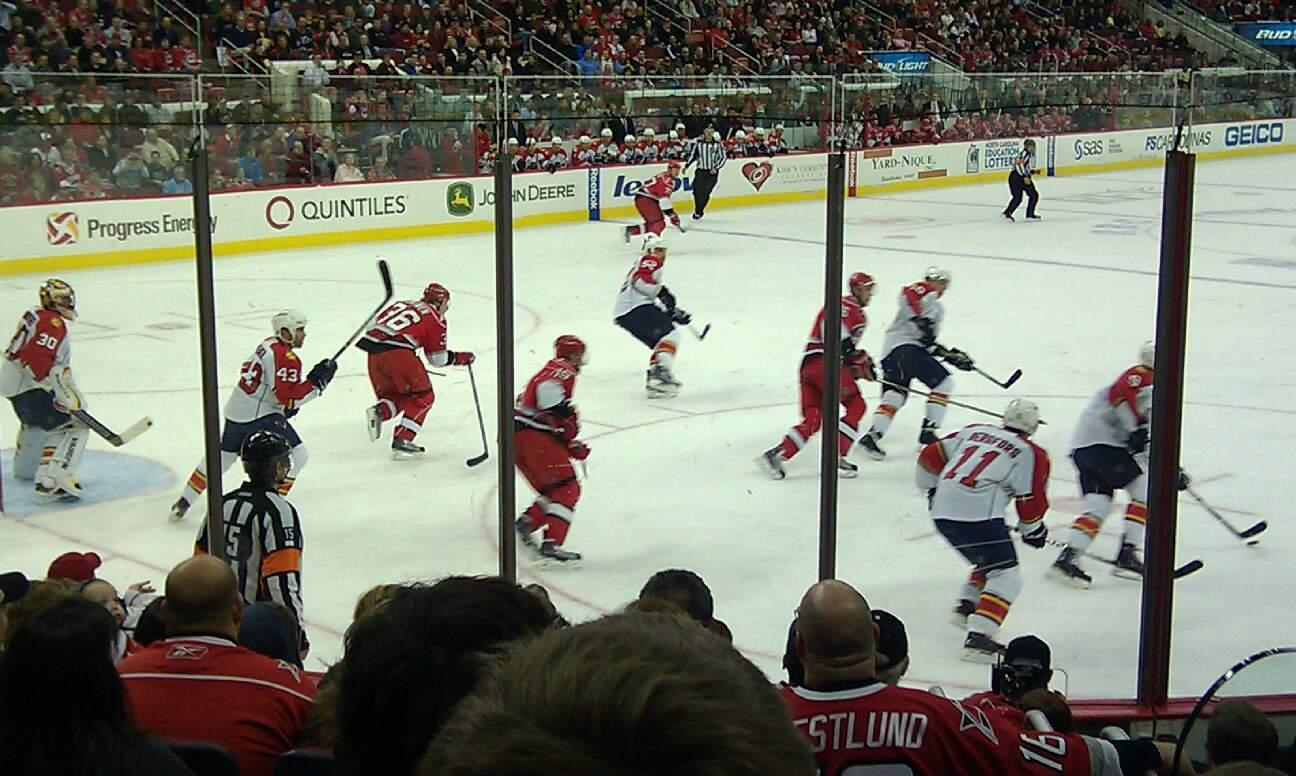 PNC Arena Section 124 Row J Seat 2