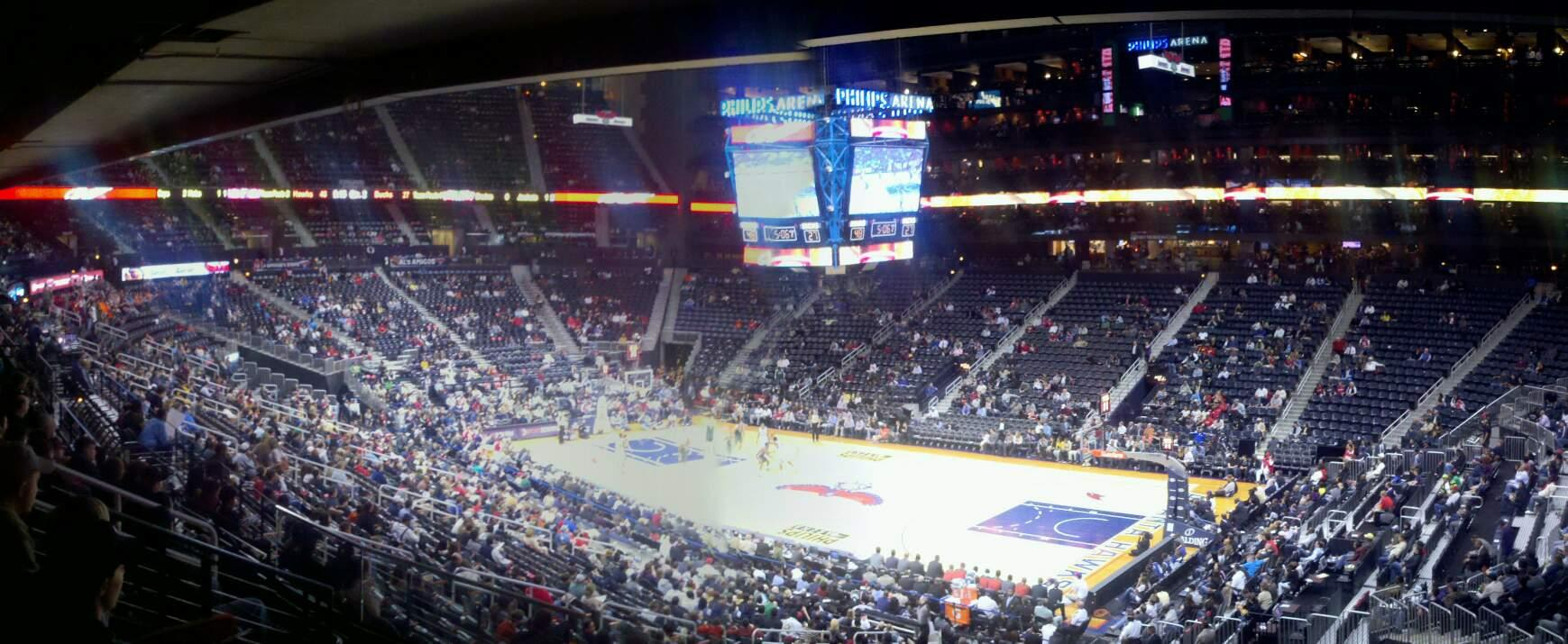 State Farm Arena Section 209 Row g Seat 2