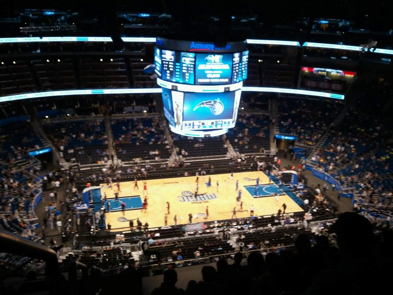Amway Center Section 210 Row 15 Seat 22