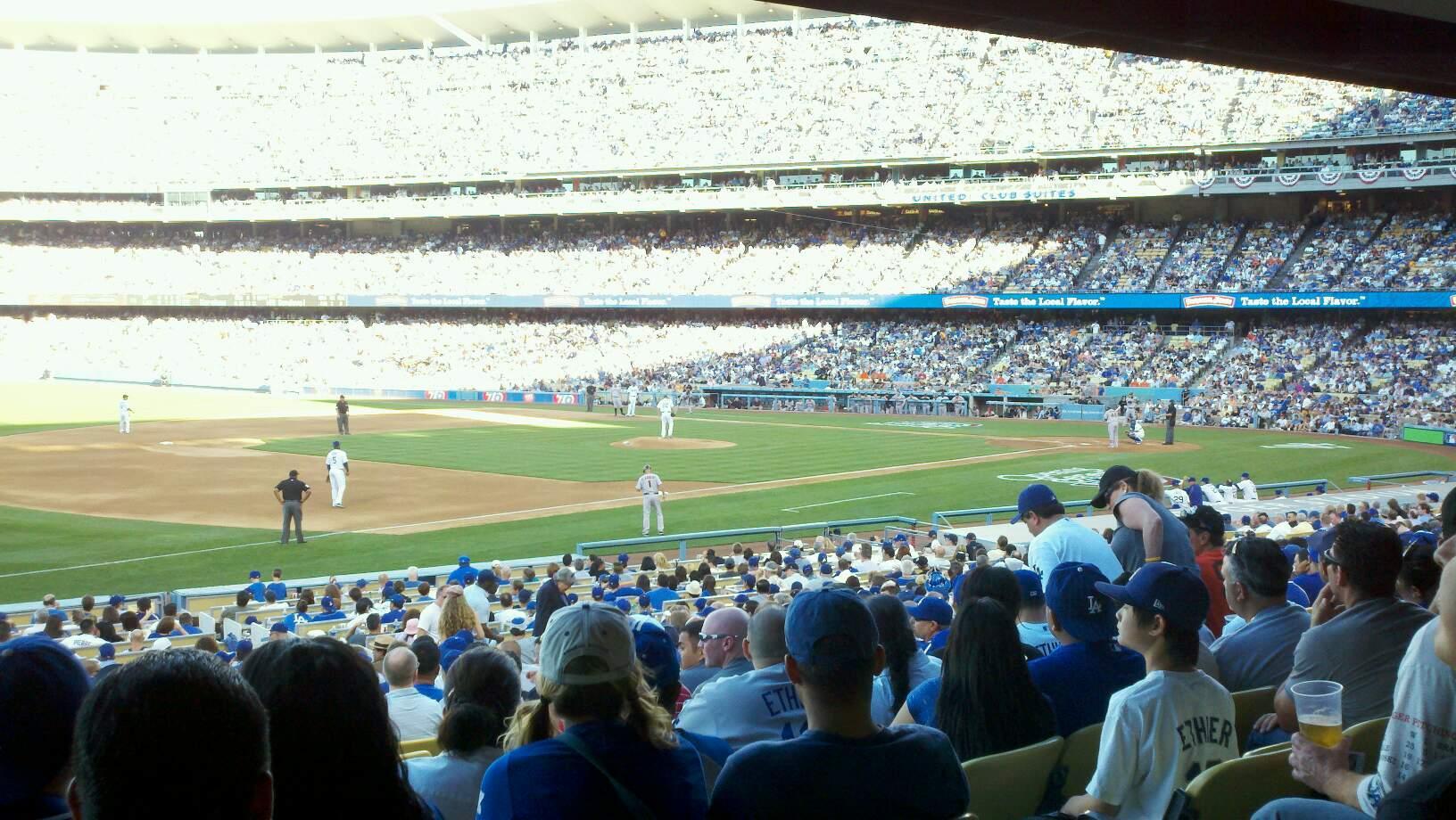 Dodger Stadium Section 35FD Row W Seat 5