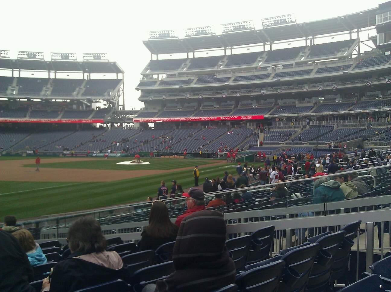 Nationals Park Section 112 Row S Seat 20