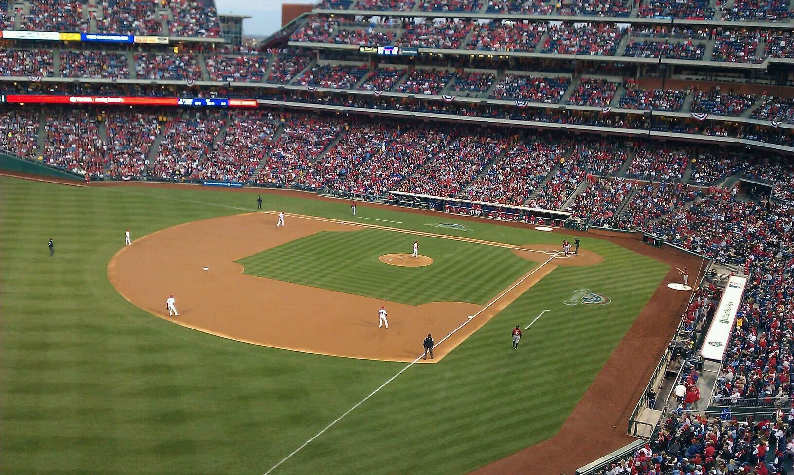 Citizens Bank Park Section 332 Row 1 Seat 12