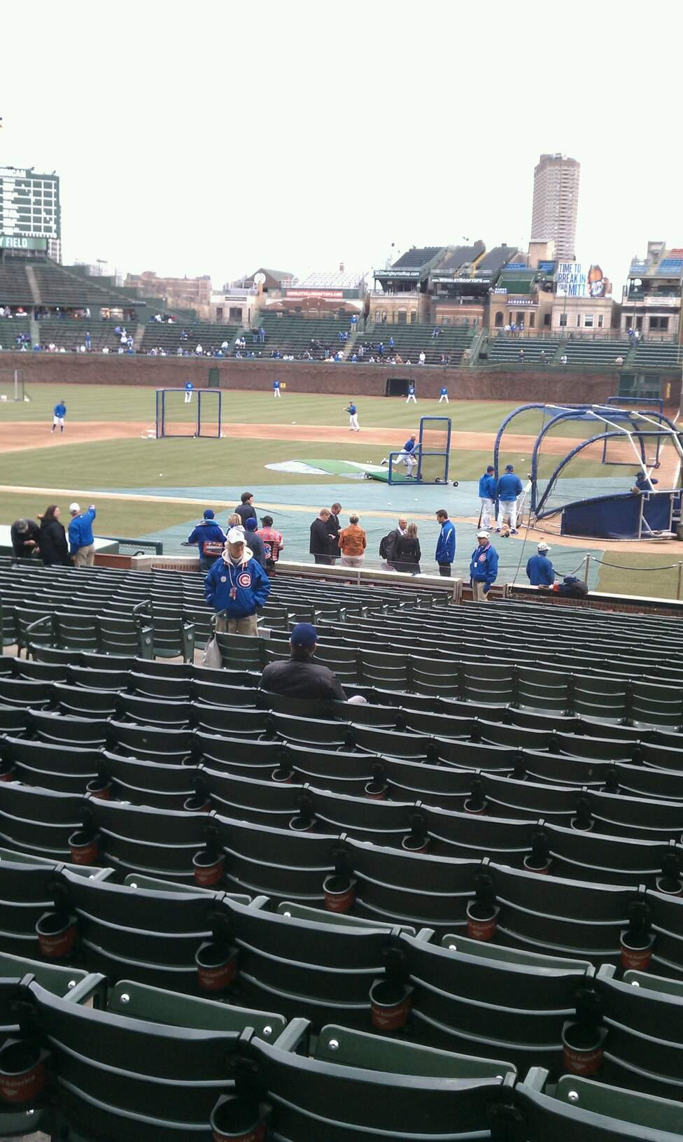 Wrigley Field Section 114 Row 11 Seat 14