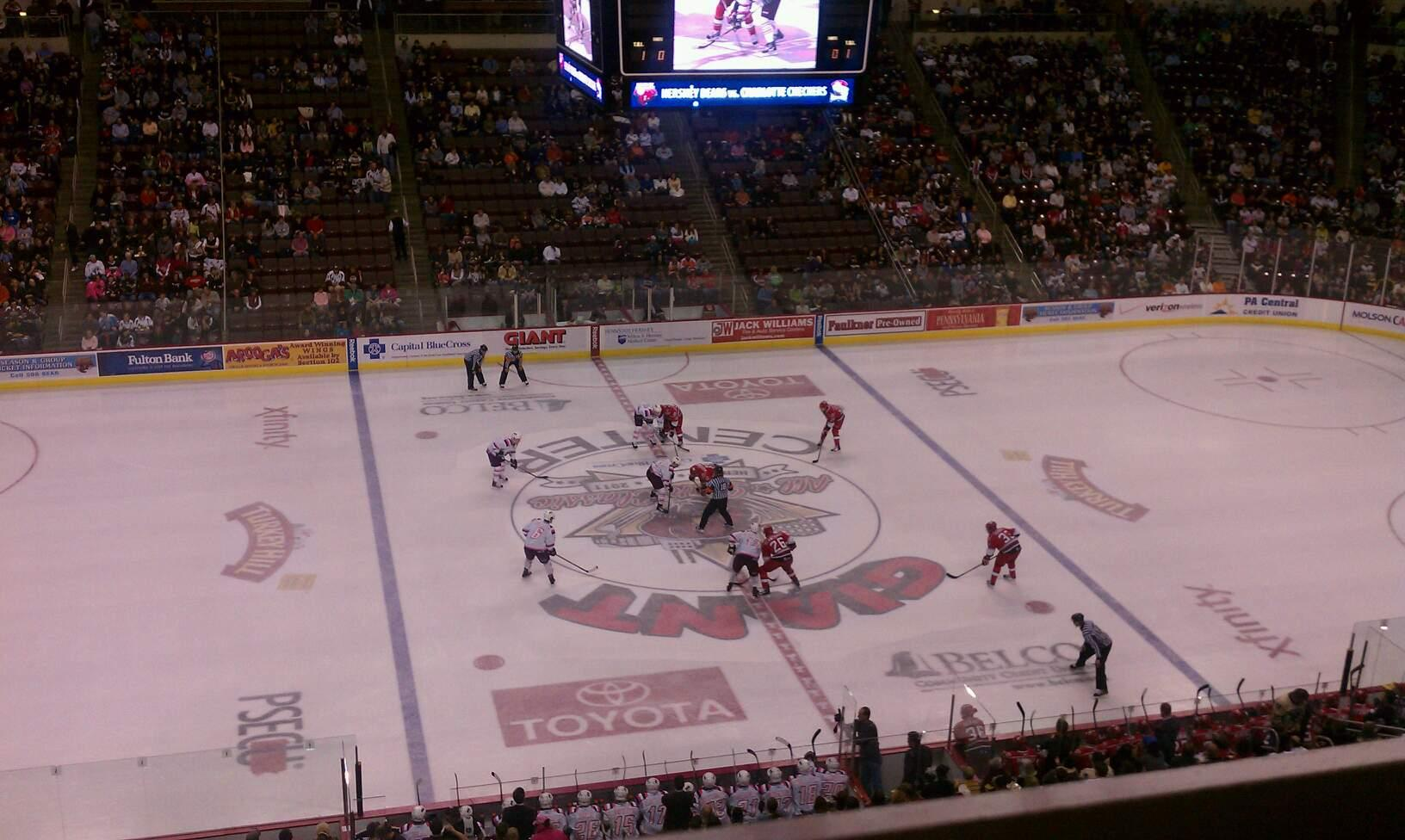 Giant Center Section 219 Row A Seat 4