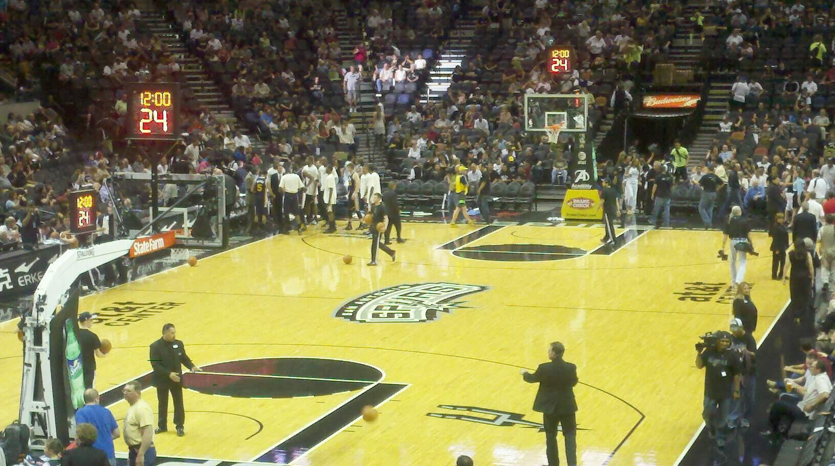 AT&T Center Section 127 Row 23 Seat 5