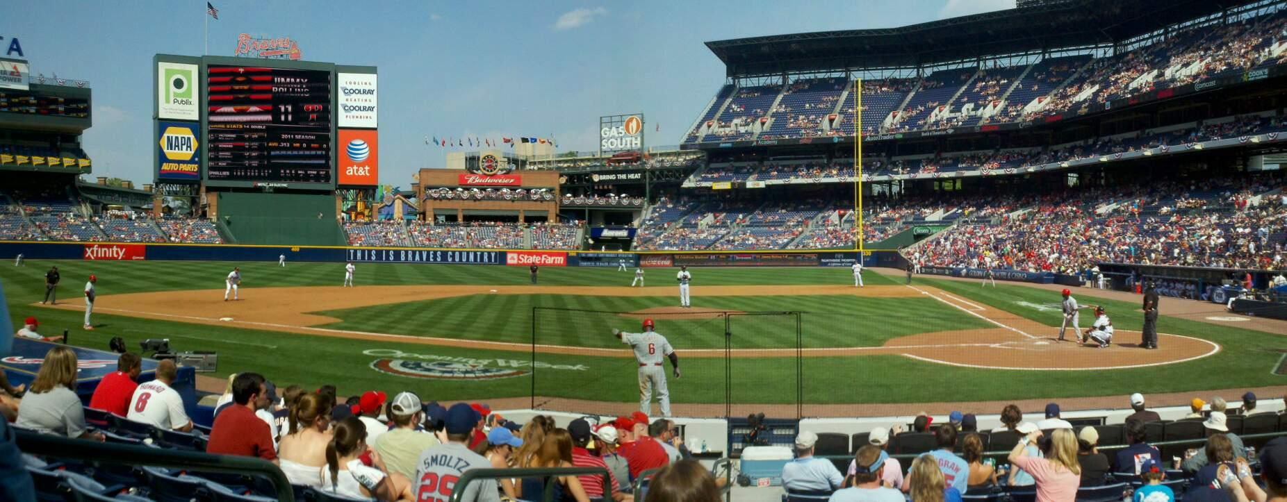 Turner Field Section 108 Row 11 Seat 2