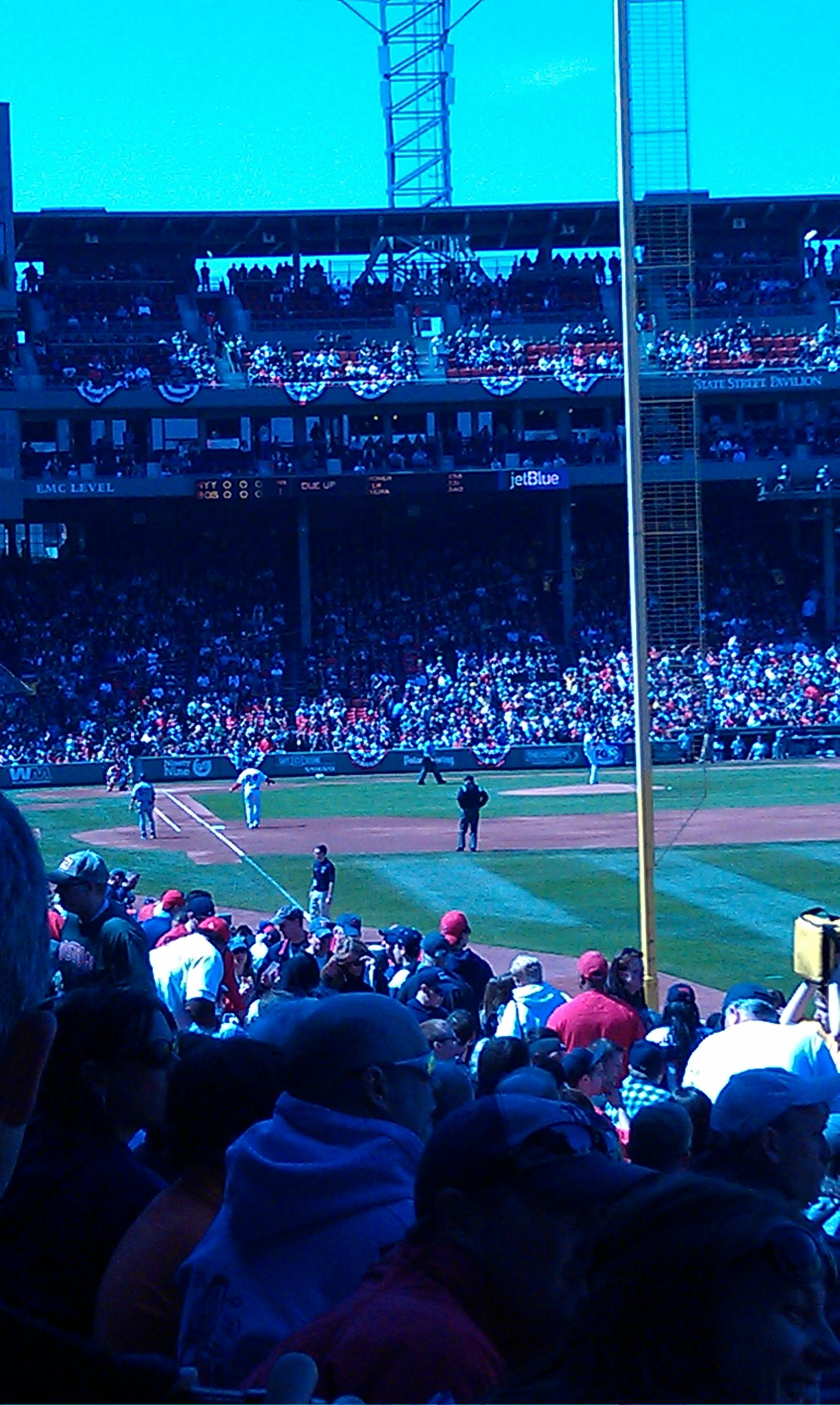 Fenway Park Section Right Field Box 91 Row SS Seat 8