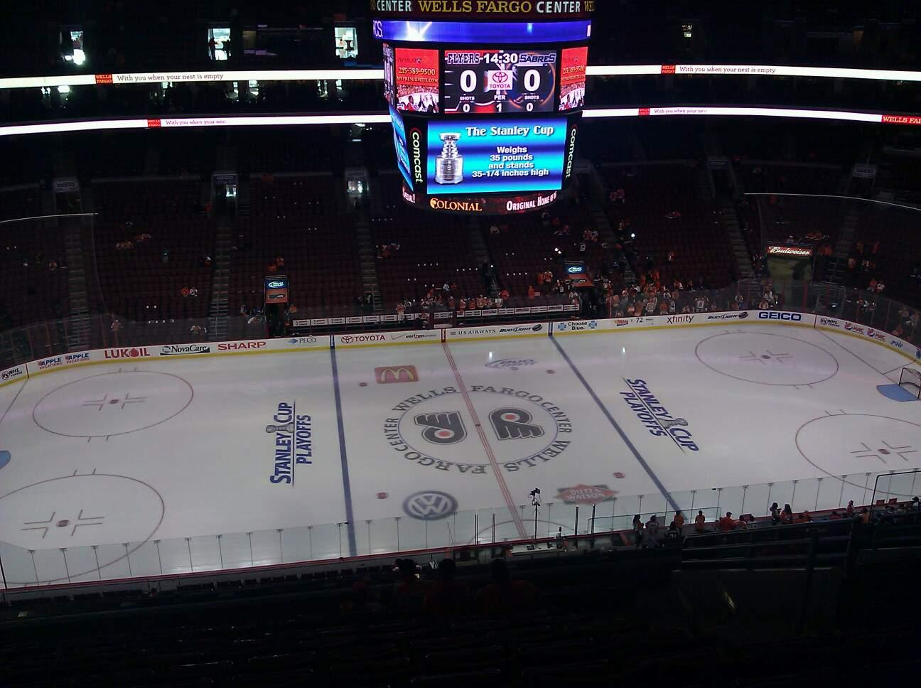 View from Section 212 at Wells Fargo Center