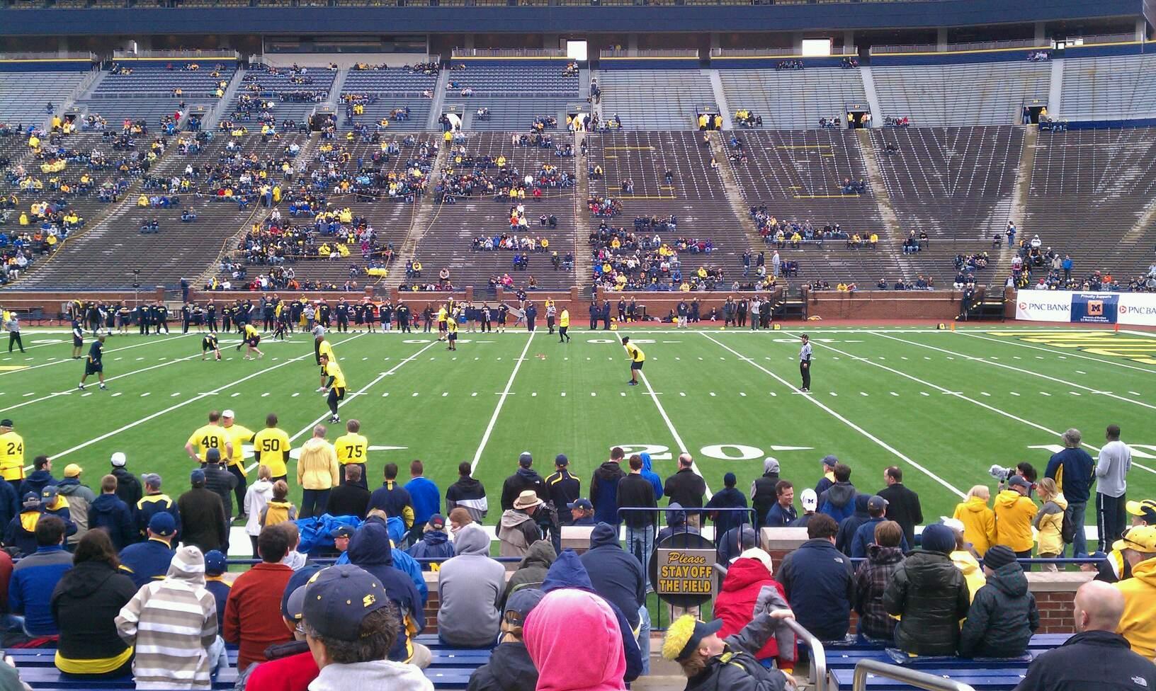 Michigan Stadium Section 43 Row 14 Seat 12