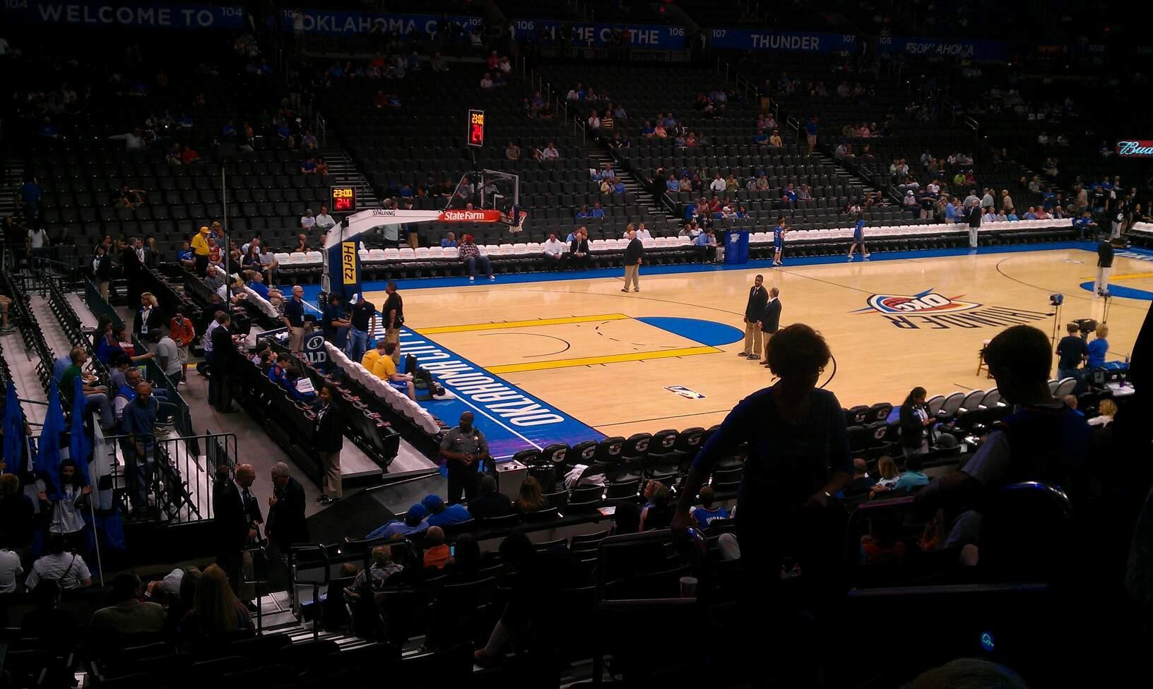 Chesapeake Energy Arena Section 118 Row Q Seat 4