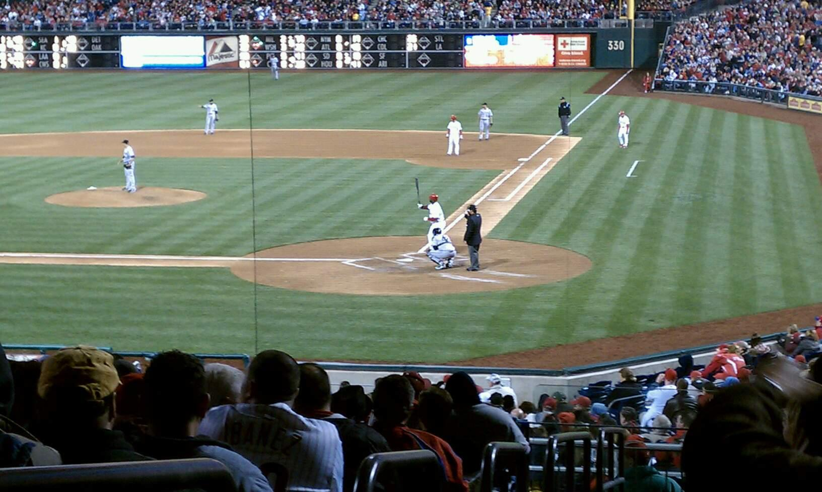 Citizens Bank Park Section 126 Row 34 Seat 16