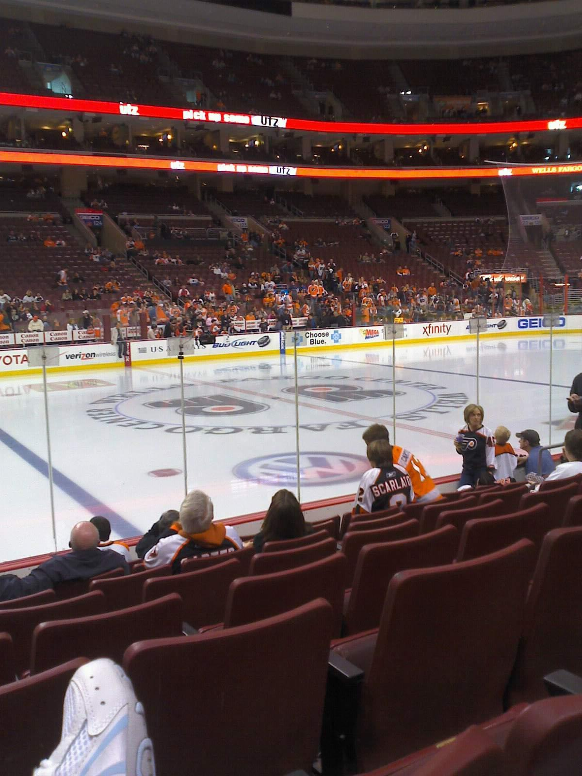 Wells Fargo Center Section 112 Row 8 Seat 8