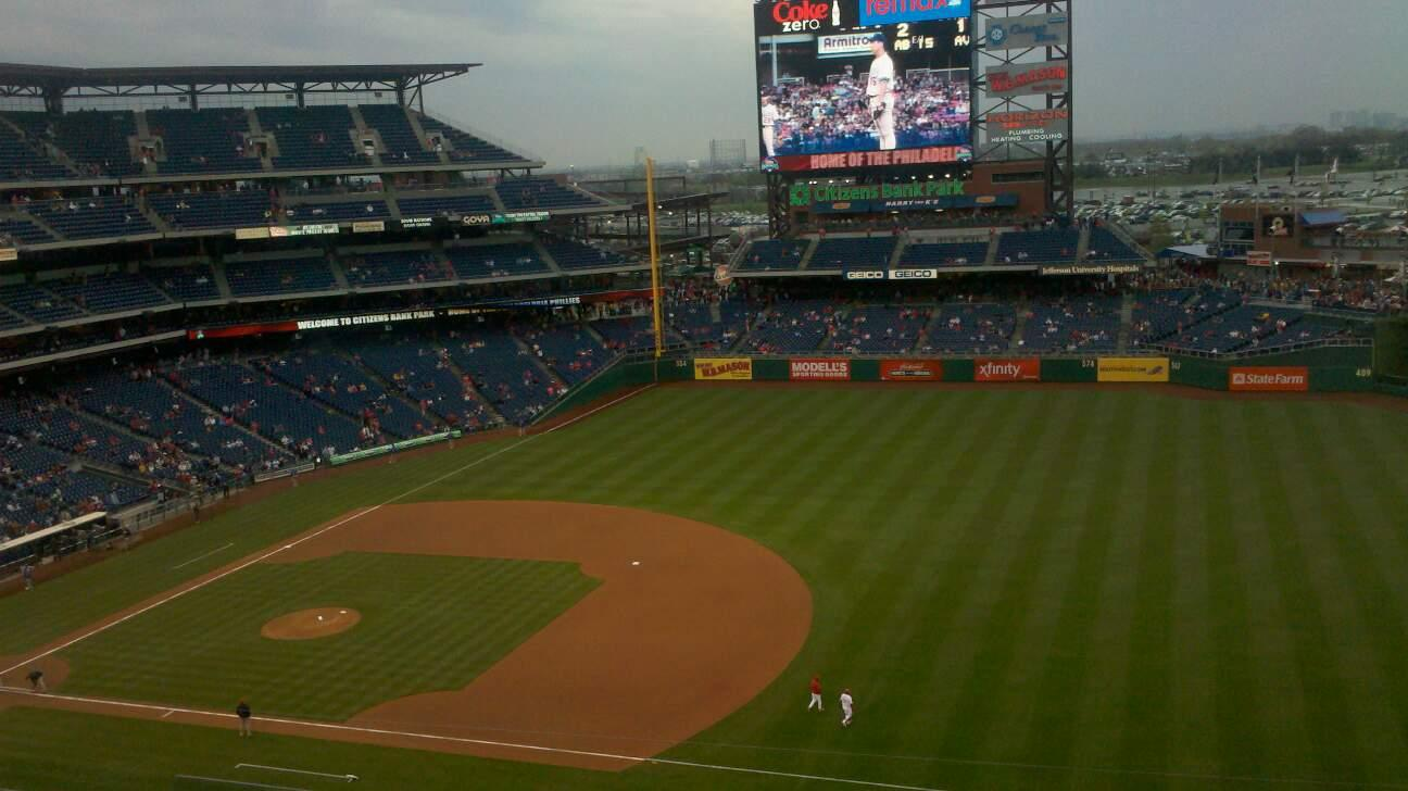 Citizens Bank Park Section 302 Row 8 Seat 4