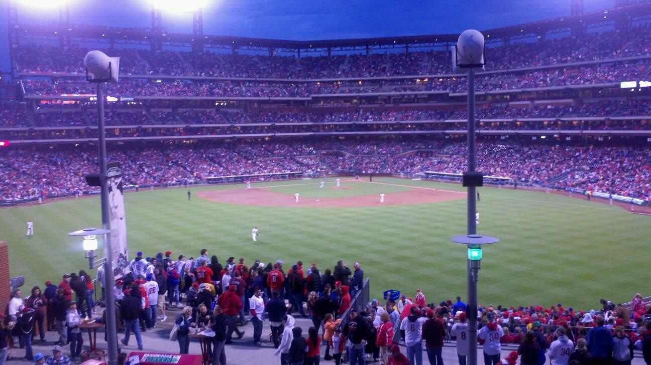 Citizens Bank Park Section 427 Row 2 Seat 8
