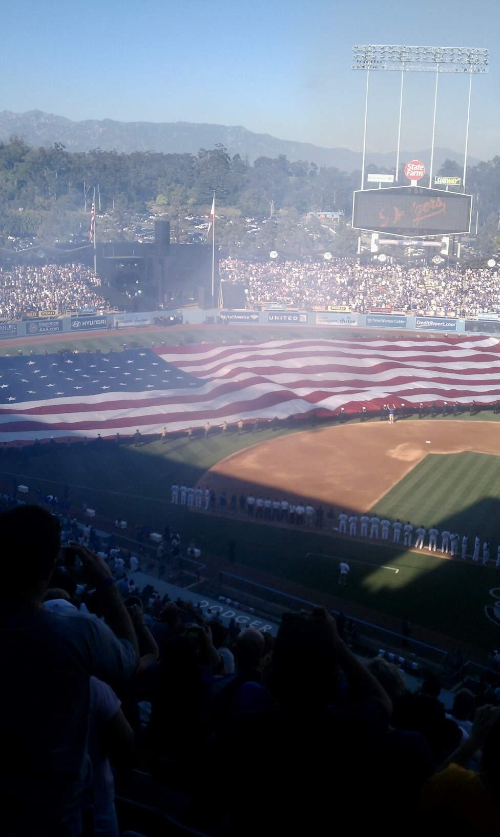 Dodger Stadium Section 13RS Row l Seat 1