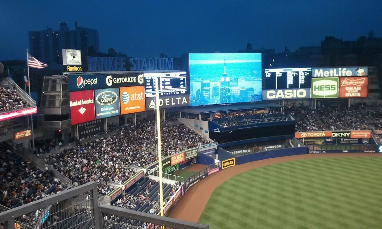 Yankee Stadium Section 329 Row 10 Seat 15
