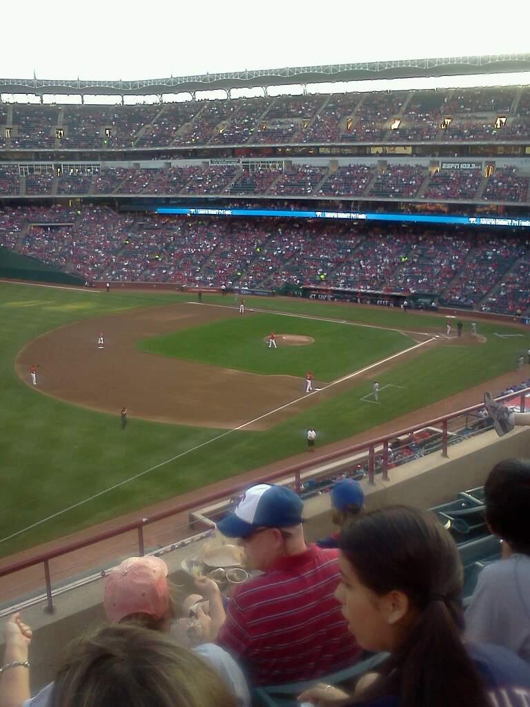 Globe Life Park in Arlington Section 214 Row 4 Seat 1