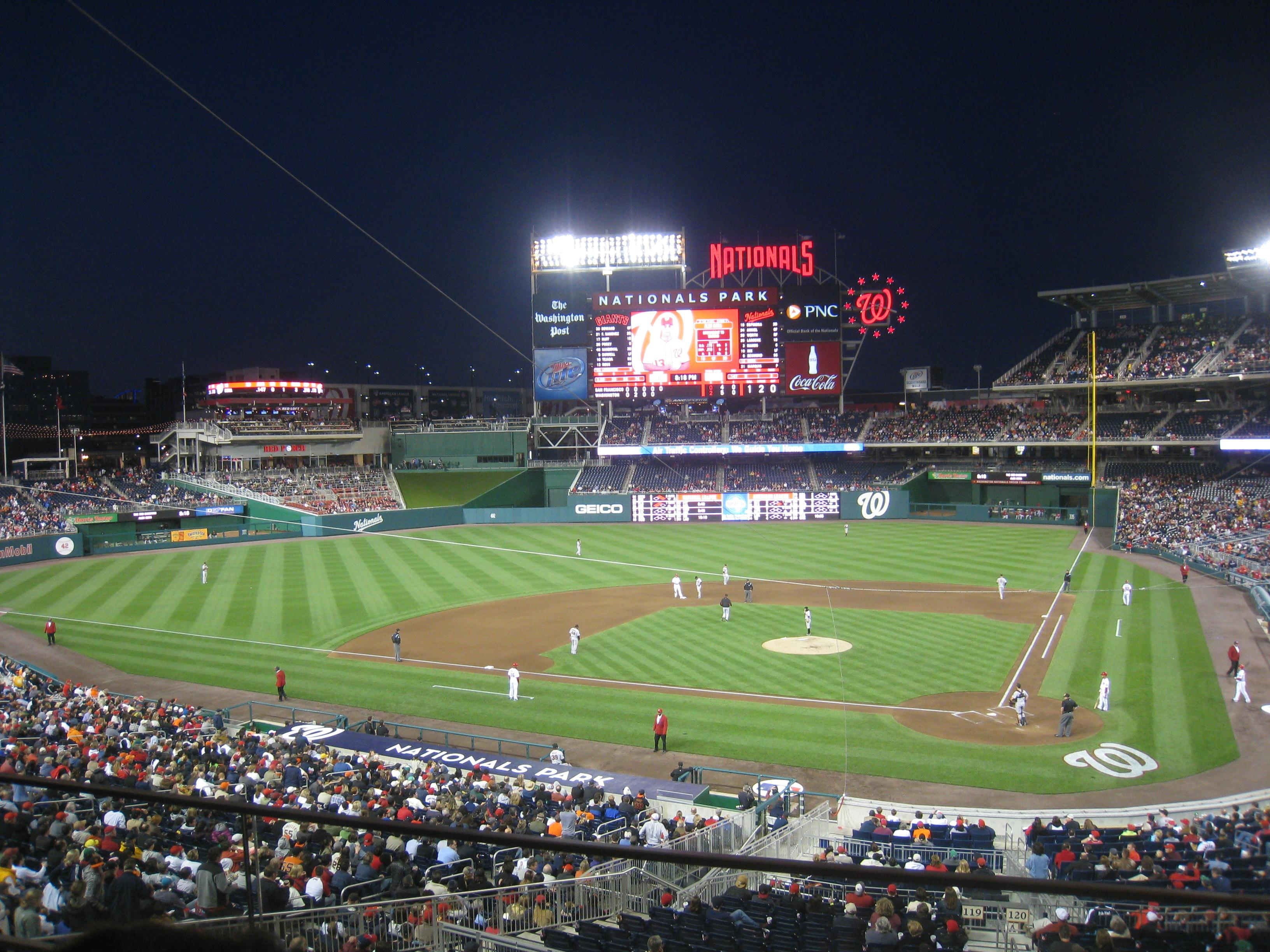 Nationals Park Section 210 Row B Seat 1