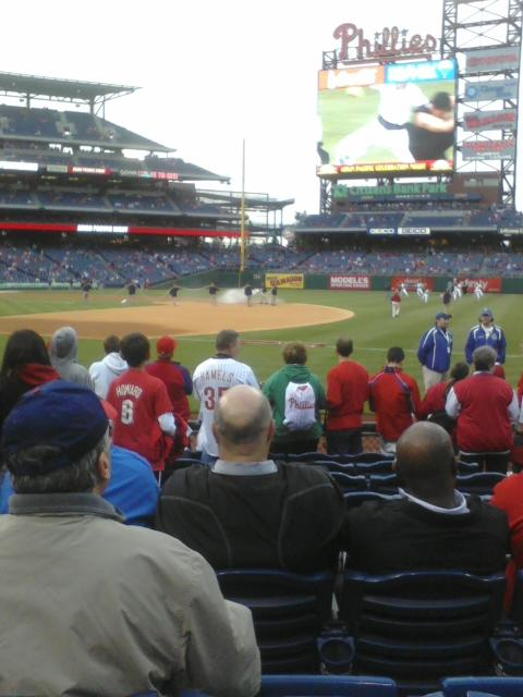 Citizens Bank Park Section 113 Row 9 Seat 4